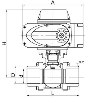 焊接式电动三片式球阀
