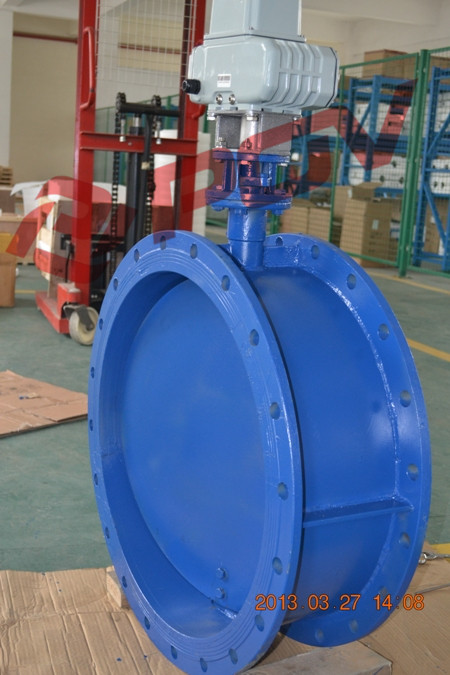 Flanged Vent Electric Butterfly Valve