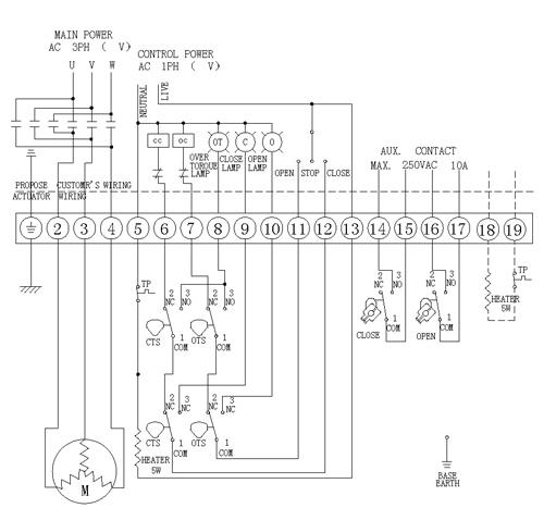 防爆电动球阀接线图