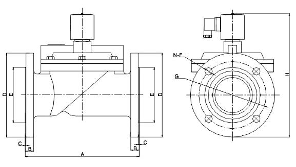 DF水液电磁阀法兰式